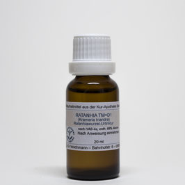Ratanhia TM=D1 – Ratanhiawurzel-Urtinktur