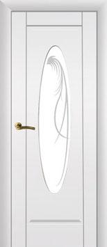 """Модель """"Овал"""" (со стеклом), дверь межкомнатная."""