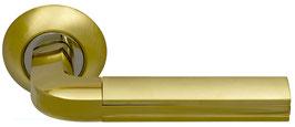 Комплект дверных ручек Sillur 96 S.GOLD / P.GOLD