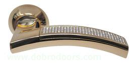 Комплект дверных ручек Sillur 132 P.GOLD / CRYSTAL