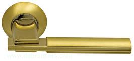 Комплект дверных ручек Sillur 94A S.GOLD / P. GOLD