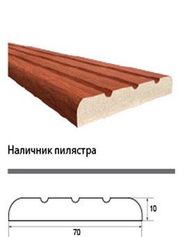 Наличник пилястра (с фрезеровкой, 3 фрезы)