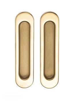 Комплект дверных ручек Sillur A-K05-V0 P.GOLD / S.GOLD