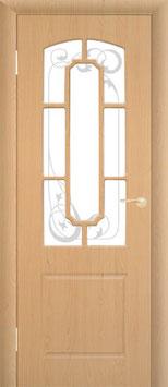 Модель М-4 (со стеклом, решётка), межкомнатная дверь.
