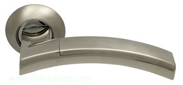 Комплект дверных ручек Sillur 132 S.CHROME / P.CHROME