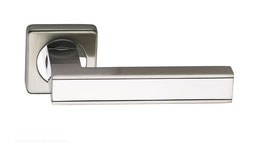 Комплект дверных ручек Sillur C159 S.CHROME / P.CHROME