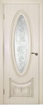 """Модель """"Версаль"""" (витраж прозрачный), дверь межкомнатная."""