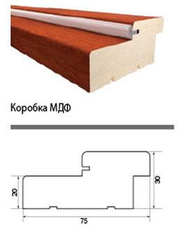 Коробочный брус МДФ, с уплотнителем.