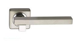 Комплект дверных ручек Sillur C92 S.CHROME / P.CHROME