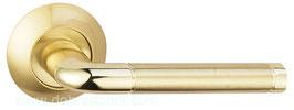 Комплект дверных ручек Bussare Lindo A-34-10 Gold / S. Gold