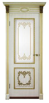 """Модель """"Верокко"""" (заливной витраж), дверь межкомнатная."""
