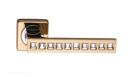 Комплект дверных ручек Sillur C199 P.GOLD / CRYSTAL