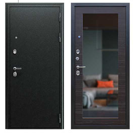 """""""NEXT-1 с зеркалом"""", входная дверь, оттенок внутренней панели - """"венге поперечный"""""""