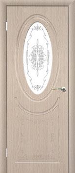 """Модель """"Венеция"""" (со стеклом, витраж прозрачный), дверь межкомнатная."""