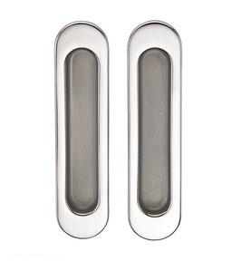 Комплект дверных ручек Sillur A-K05-V0 P.CHROME / S.CHROME