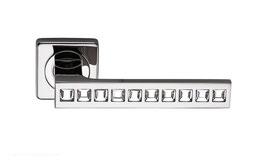 Комплект дверных ручек Sillur C199 P.CHROME / CRYSTAL