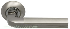 Комплект дверных ручек Sillur 96 S.CHROME / P. CHROME