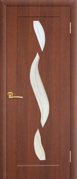 """Модель """"Ниагара"""" (со стеклом), дверь межкомнатная."""