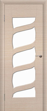 """Модель """"Бриз"""" (со стеклом), дверь межкомнатная."""