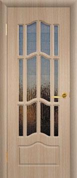"""Модель """"Ампир"""" (со стеклом), дверь межкомнатная."""