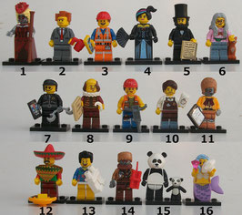 . Lego Minifiguren .  Serie Movie
