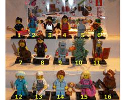 . Lego Minifiguren .  Serie 6