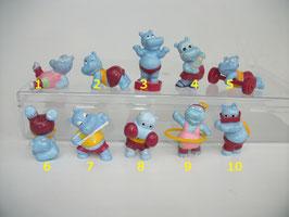 Happy Hippos im Fitnessfieber 1990