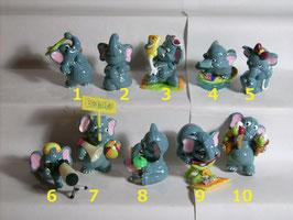 Elefantao OEU 1997 Farbvarianten