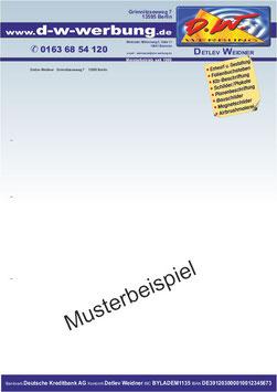 Briefpapier Briefbogen Din A4