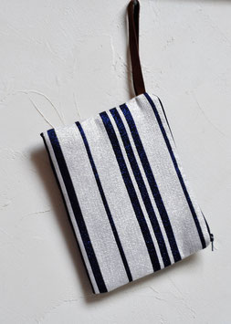 Pochette Textile  灰色 haiiro
