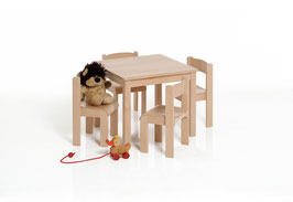 Kindertisch quadratisch 60 x 60 cm | Buche