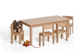 Kindertisch rechteckig 100/120 x 60 cm | Buche