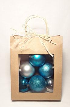 Kit de boule bleu et argent