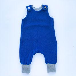 Babystrampler frottee blau