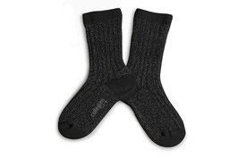 Glitzer Socken noir de charbon