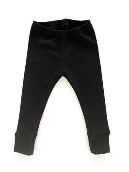 Leggings gerippt schwarz