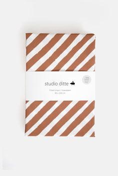 Fixleintuch stripes rust brown