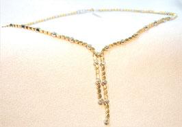 Hübsches 750. Gelb/Weißgold/Brillant/Collier
