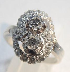 585. Weißgoldring mit 1,2 ct Brillanten/Diamanten