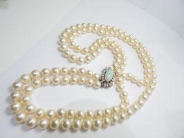 Außergewöhliches doppelreihiges Perlencollier