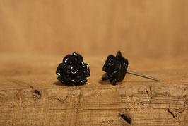 Ohrstecker aus dem Rosengarten in schwarz