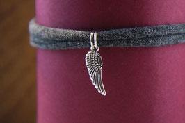 Flügel, damit der Engel immer wieder zu Dir zurückkehrt. Antiksilber und Jersey