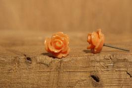 Ohrstecker aus dem Rosengarten in orange