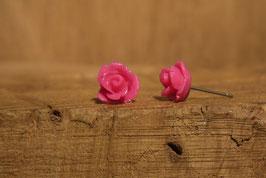 Ohrstecker aus dem Rosengarten in pink