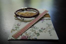 Lieblingsmensch - Armband mit rosafarbenen Leder