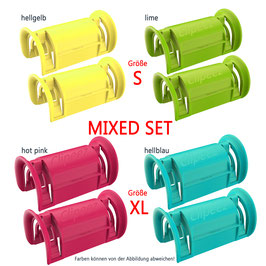 Clipeez® MIXED SET (2x Set S + 2x Set XL) - fashion colors Var. I
