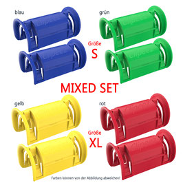 Clipeez® MIXED SET (2x Set S + 2x Set XL) - standard colors Var. II
