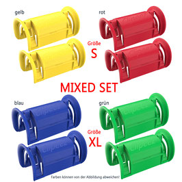 Clipeez® MIXED SET (2x Set S + 2x Set XL) - standard colors Var. I