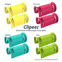 Clipeez® Größe S - Family Pack - 8er Set - fashion colors