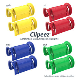 Clipeez® Größe S - Family Pack - 8er Set - standard colors